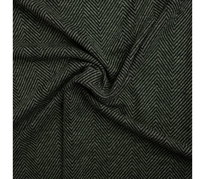 Sweatertricot Herringbone tweed green