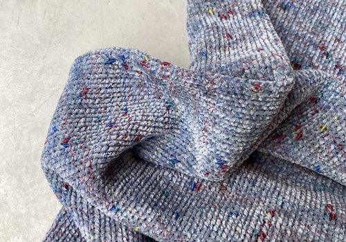 Sweater chenille speckled Bluegrey