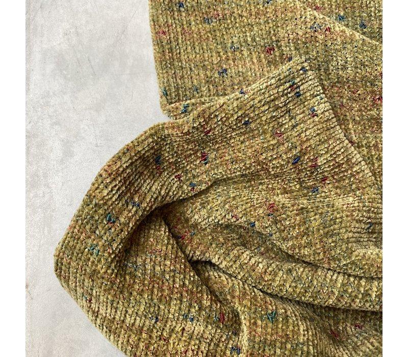 Sweater chenille speckled Mustardgreen