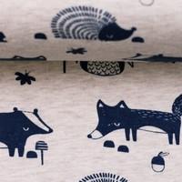Tricot Melange Woodland Animals