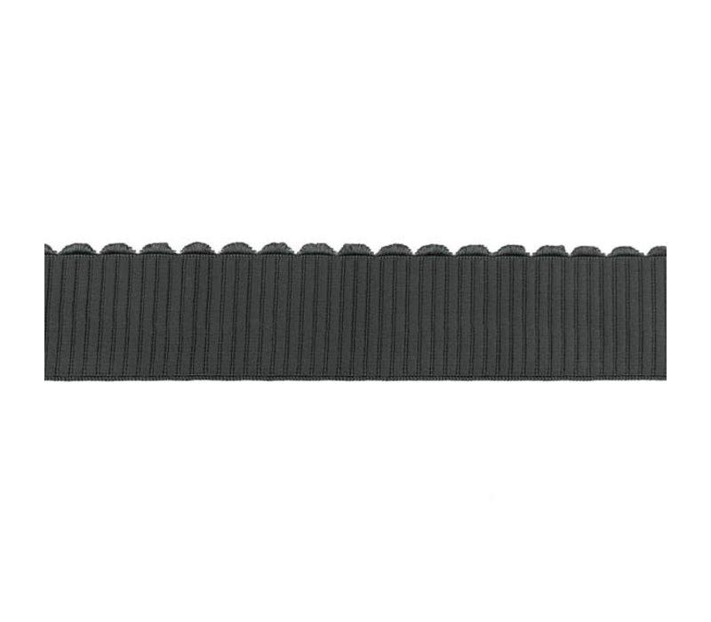 Taille Elastiek 40mm bows antraciet