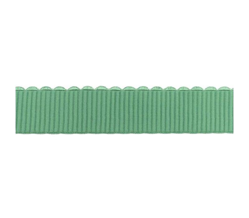 Taille Elastiek 40mm bows grijsgroen
