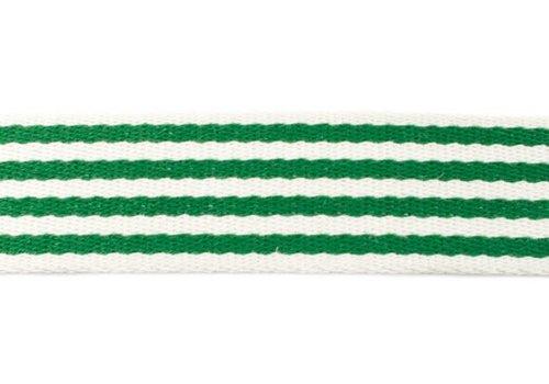 De Stoffenkamer Tassenband Stripes Green