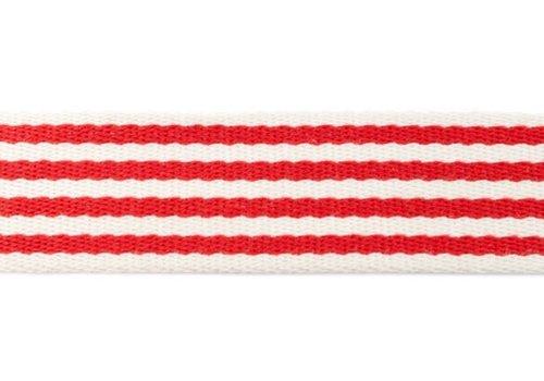 De Stoffenkamer Tassenband Stripes Red