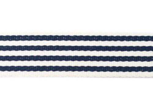 De Stoffenkamer Tassenband Stripes Navy