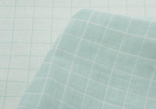 Les Trouvailles d'Amandine Bio Double Gauze Cotton - Carreaux Menthe