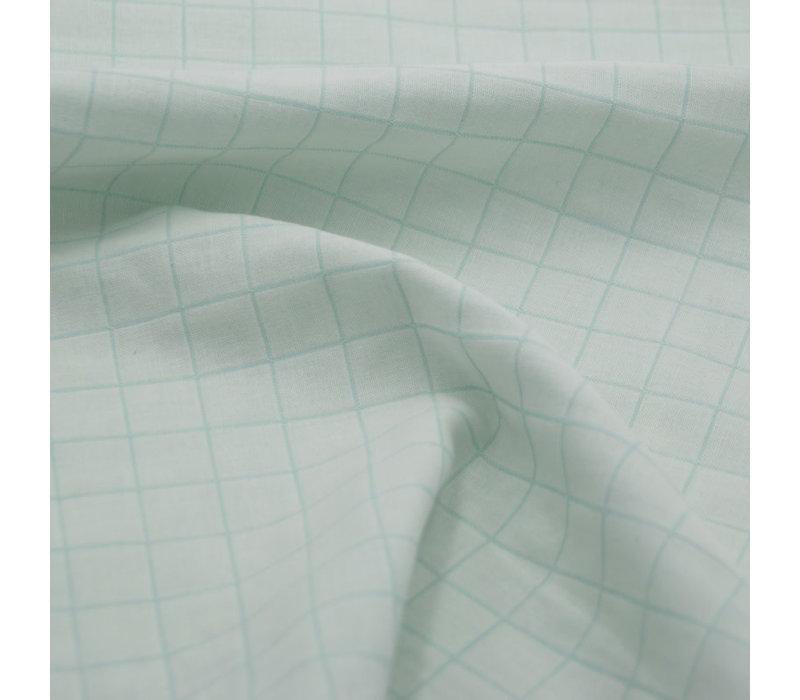 Bio Double Gauze Cotton - Carreaux Menthe