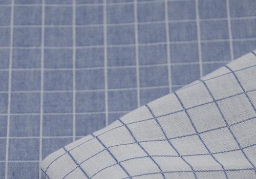 Les Trouvailles d'Amandine Bio Double Gauze Cotton - Carreaux Denim