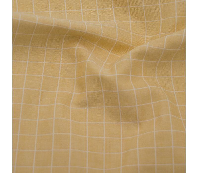 Bio Double Gauze Cotton - Carreaux Saffran