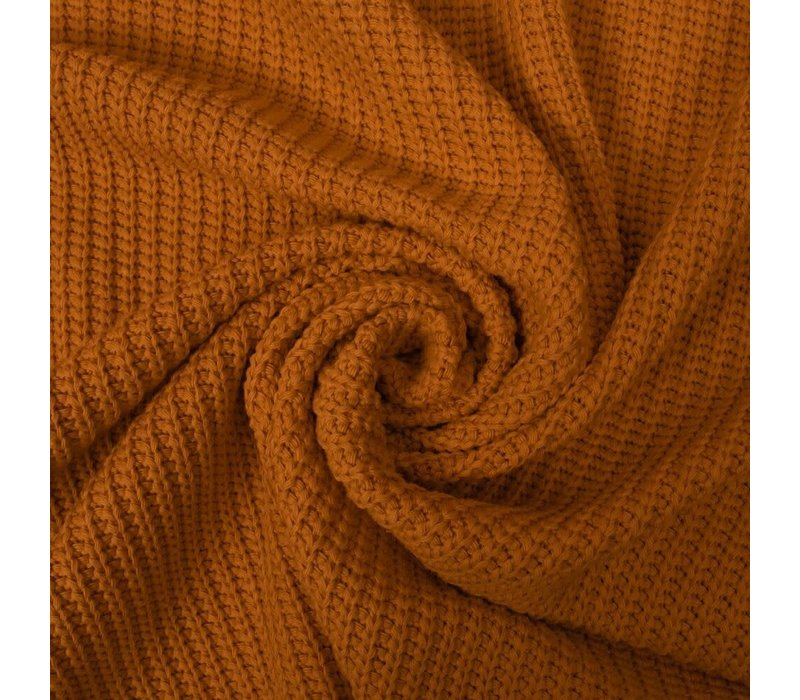 Sweater Cable Knit Warm Ocre