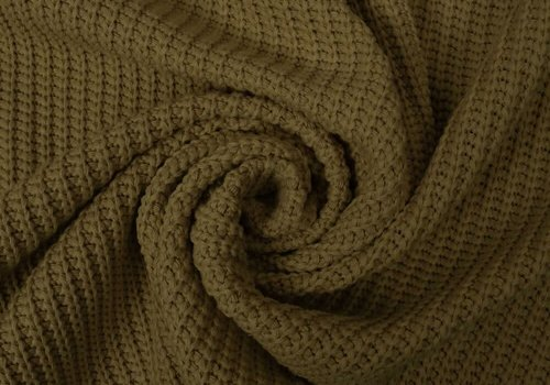 De Stoffenkamer Sweater Cable Knit Moss