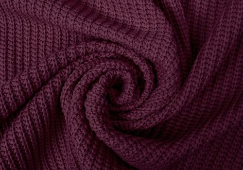 De Stoffenkamer Sweater Cable Knit Burgundy
