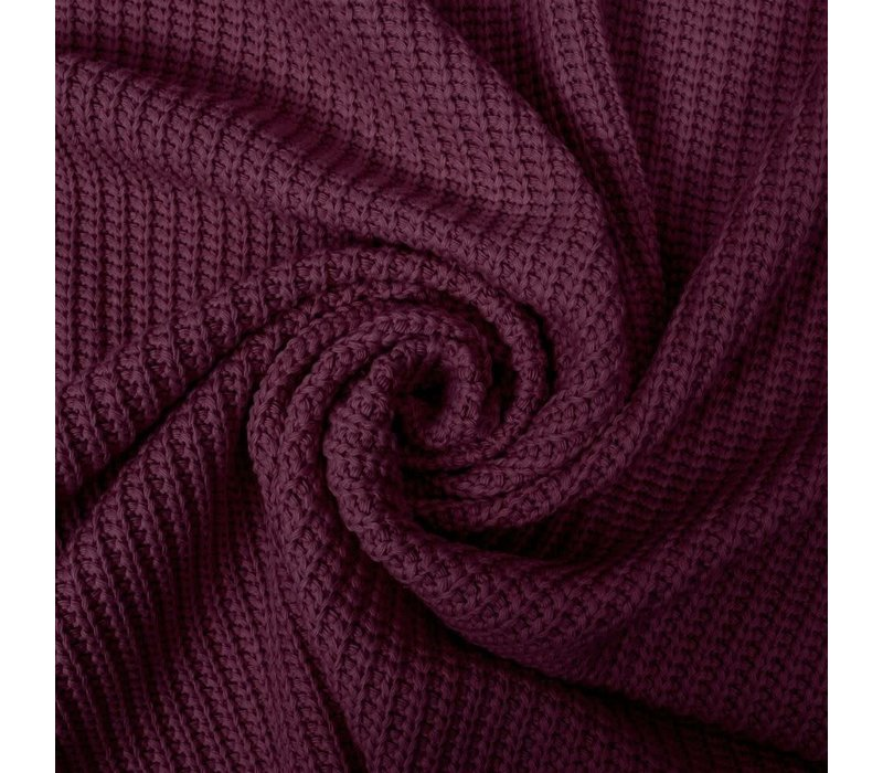 Sweater Cable Knit Burgundy