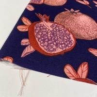Canvas Royal Blue Pommegranate
