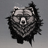 De Stoffenkamer French Terry - Panel Grizzly