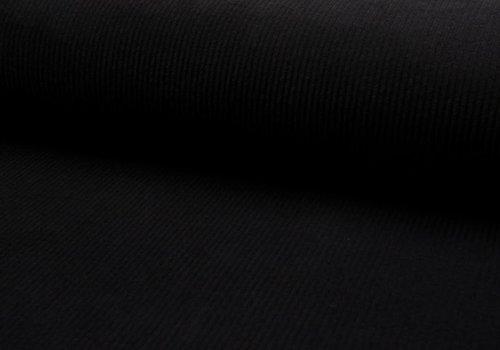 De Stoffenkamer Ribfluweel Met Brede Ribbel zwart