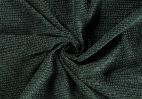 De Stoffenkamer Ribfluweel Met Brede Ribbel WASHED dark green