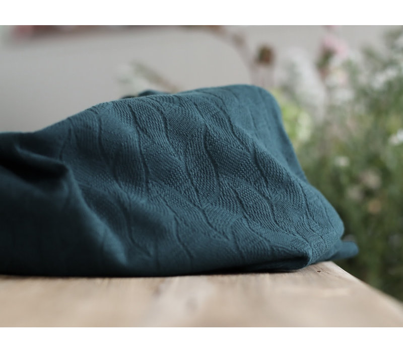 Organic Jacquard Leafs - Bottle Green
