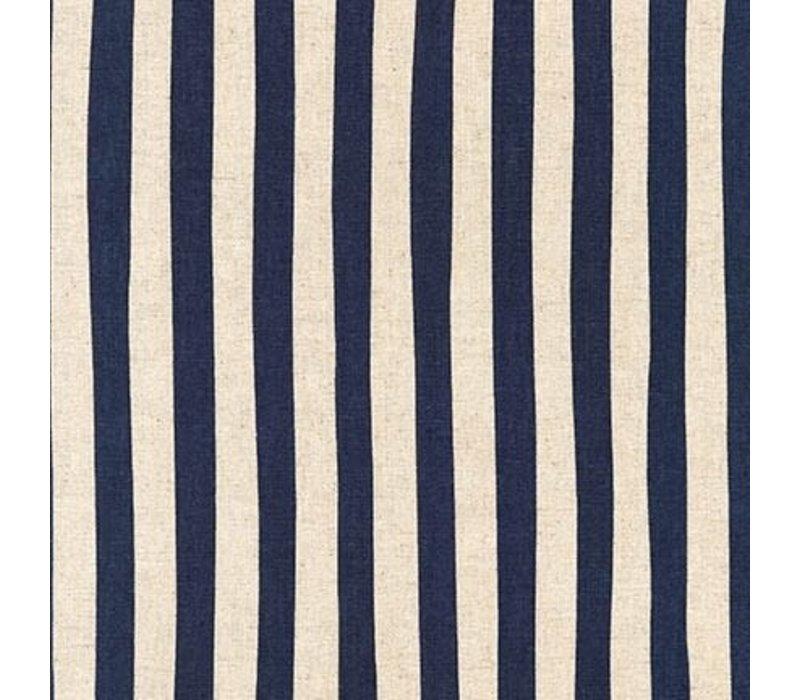 Canvas Natural Stripes Blue