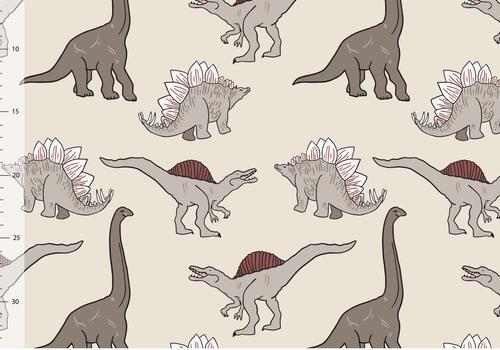 Elvelyckan Bio tricot - Dino Creme