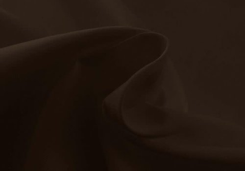 De Stoffenkamer Effen katoen chocolade bruin