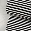Ribbed jersey Striped Black