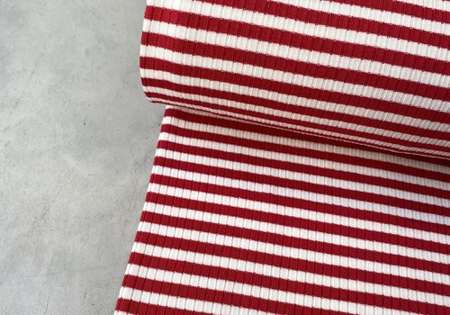 Ribbed jersey Striped Red