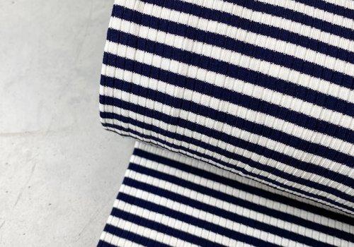 Ribbed jersey Striped Navy