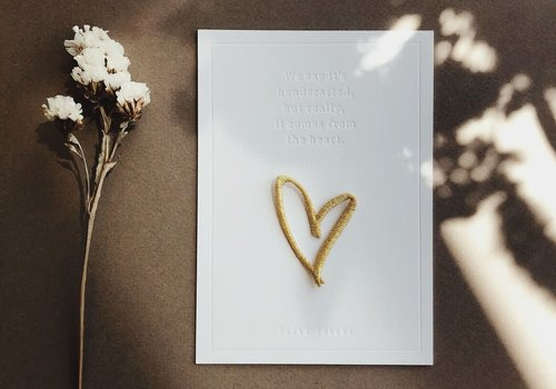 Petit Pourri Strijkapplicatie Heart Gold