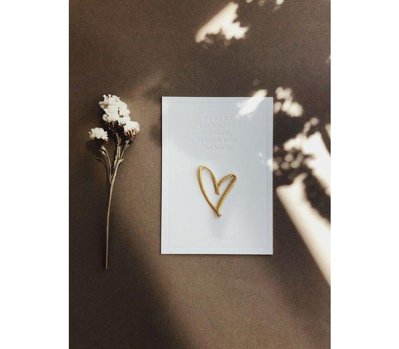 Strijkapplicatie Heart Gold