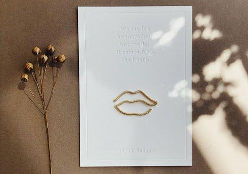 Petit Pourri Strijkapplicatie Lips Gold