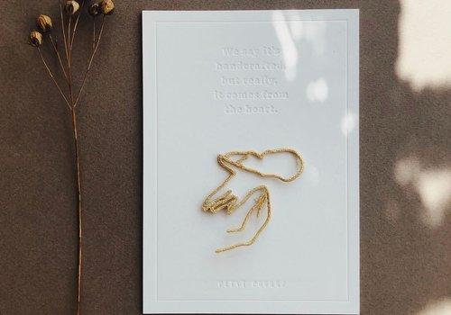 Petit Pourri Strijkapplicatie Motherhood Gold