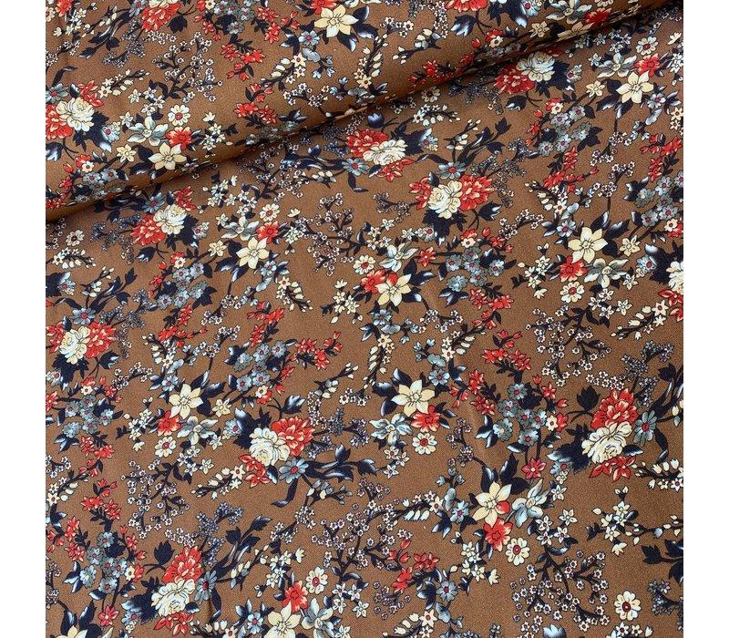 Blouse Viscose Flowerfield  Rust