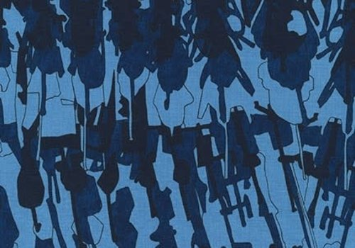 Robert Kaufman Cotton Abstract Dark Blue
