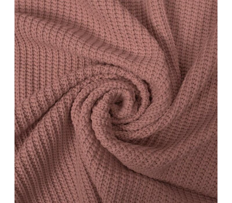 Sweater Cable Knit Old Pink