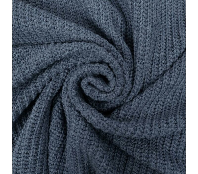 Sweater Cable Knit Greyblue