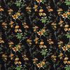 Blouse Viscose Black Oker Flowers