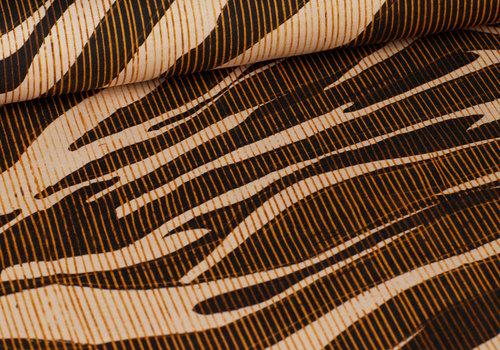 Editex Viscose Winter Tricot - Abstract Stripes Fall