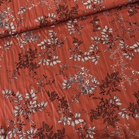 Blouse Viscose Rust gold lines