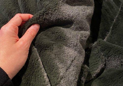 De Stoffenkamer Faux-Fur Dark khaki Green