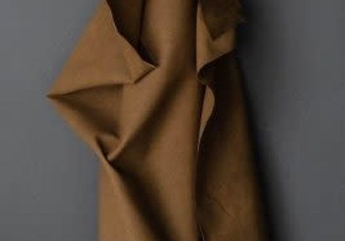 De Stoffenkamer DRY Oilskin Flax-cotton Tobacco