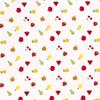 Cotton White Multi Fruit