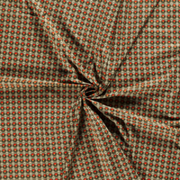 Cotton Khaki Flowerwall