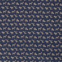 Cotton Denimblue Zebra