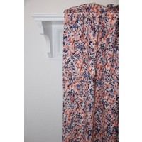Viscose blue and pink flowers