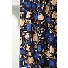 Atelier Jupe Viscose dark blue salmon flower print