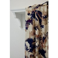 Viscose blue and beige marbled