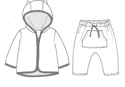 Katia Patroon Broekje plus sweater 1-12maand