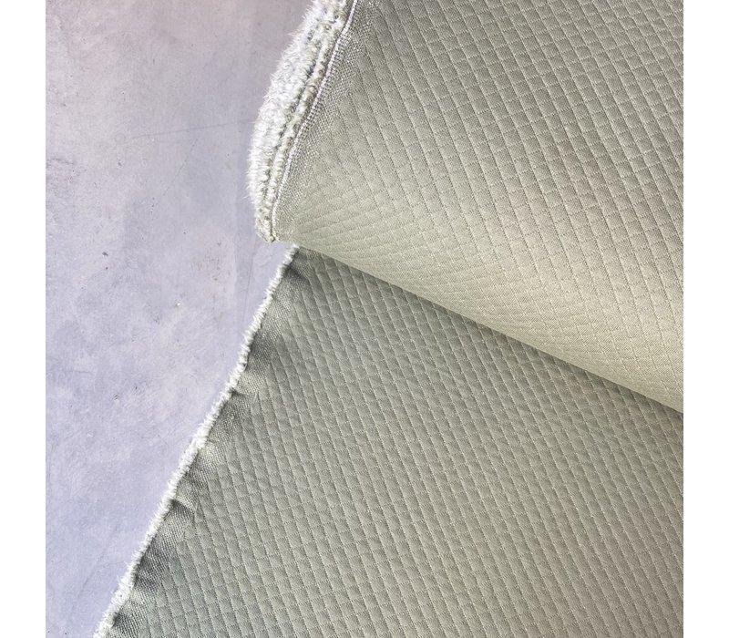 Geruite Sweaterstof Sagegreen