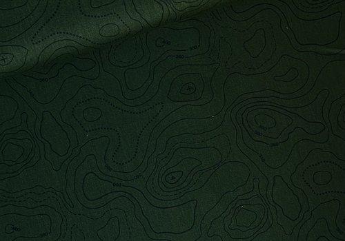 Cosmo Canvas Contour Lines Dark Khaki